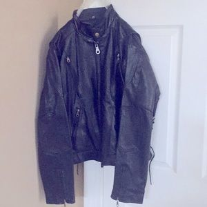 Motorcycle jacket heavy duty leather